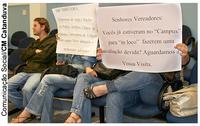 Alunos do IMES-Fafica pedem apoio contra falta de estrutura