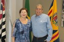 Dr. Luis Pereira recebe Diretora da ETEC Elias Nechar