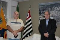 Dr. Luis Pereira recebe visita de Edson Giacomo
