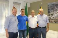 Presidente Dr. Luis Pereira recebe a visita do Prefeito Municipal, Afonso Macchione Neto